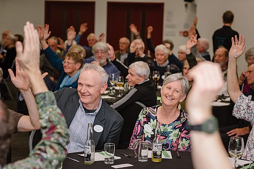 click on the photo and click again on the photo to download the original image  2019-07-06 19.09.06 Tararua Tramping Club - Centenary Dinner-076-DigitalNinja