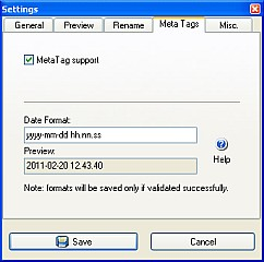 Enable meta tag support