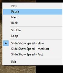 Slide Show menu