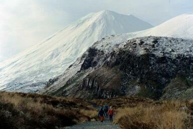 On the way to South Saddle, Tongariro National Park. Photo: Dement Family