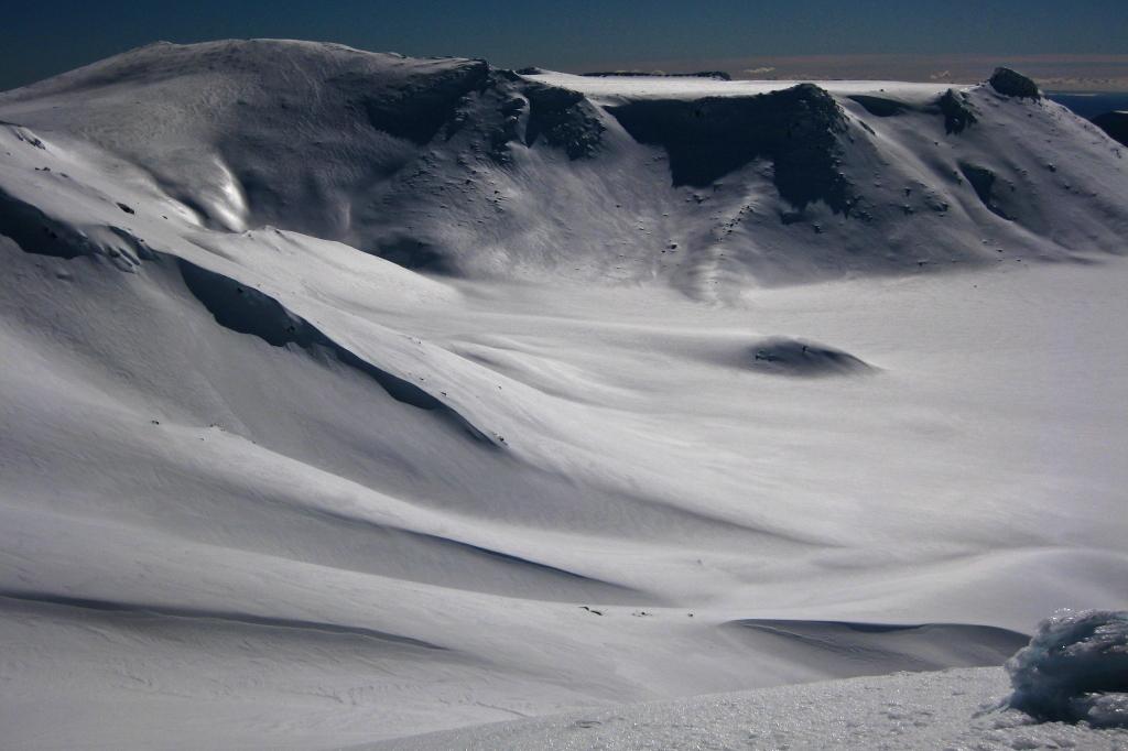 click on the photo to download the original image  Tongariro in Winter - David Grainger