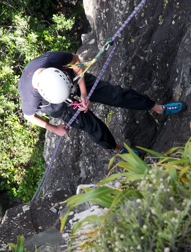 click on the photo to download the original image  Ruben abseils