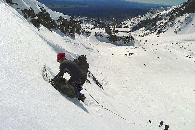 Marcus making yet another t-slot on the side of Knoll Ridge