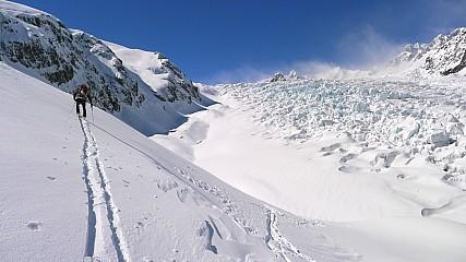 En route to Pioneer Hut beside the Fox Glacier