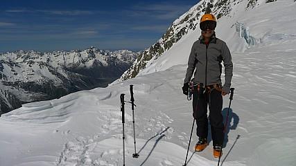 Dan with Tasman valley below