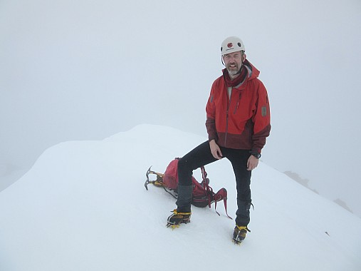 Piers on summit of Mt Cupola the next day. photo by Paul Maxim