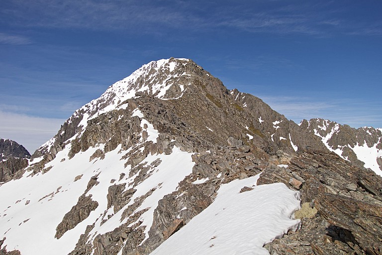 We reachedthe north east ridge of Mt Travers, which looked fairly straightforward travel..  From here.