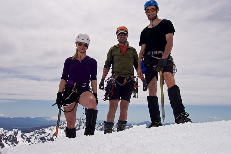 Jade, Dave and Jason at the summit of Mt Travers