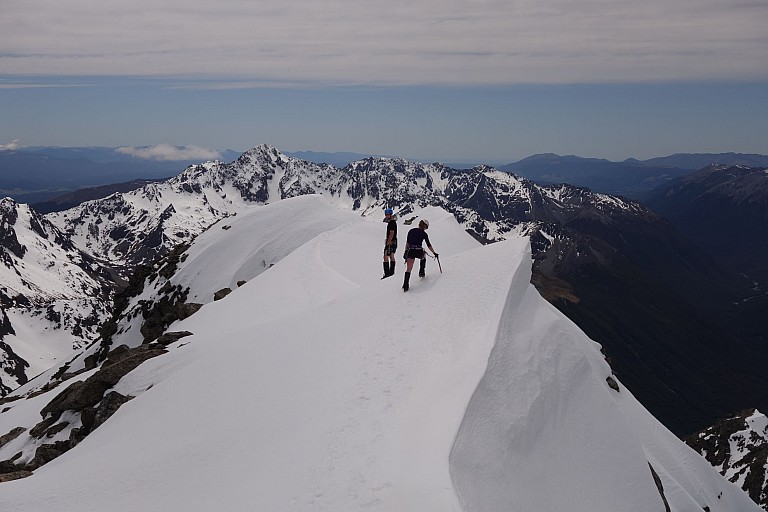 Heaps of snow made the summit area easy to move around.