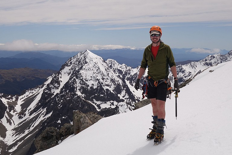 Dave in front of Mt Cupola