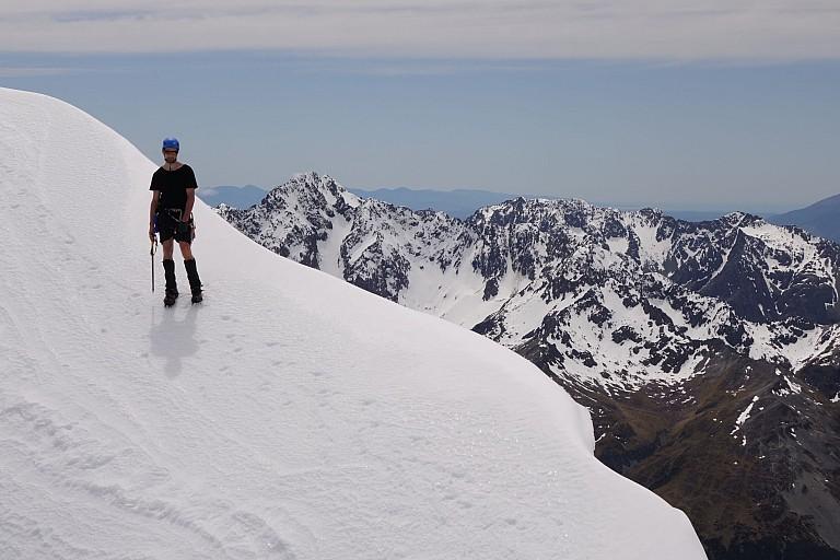 Jason descending Mt Travers