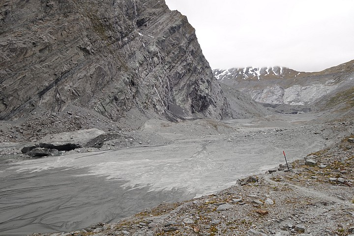 Where the Dart Glacier used to be a few years ago - one of the fastest glacial retreats in New Zealand