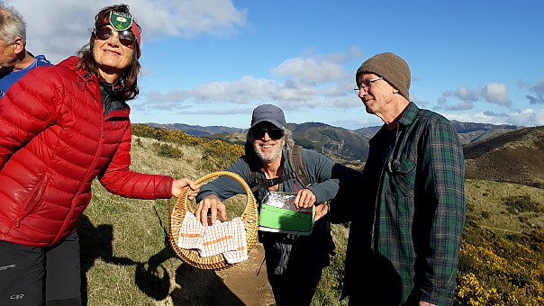 click on the photo and click again on the photo to download the original image  2019-06-30 11.24.59 Jane-pyar Terry Tom with Tararua biscuits galore_VWogan
