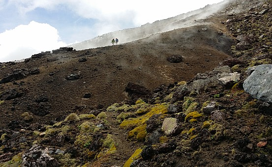 click on the photo and click again on the photo to download the original image  ABL-TTC-Susan Guscott-Descent from Mt Tongariro
