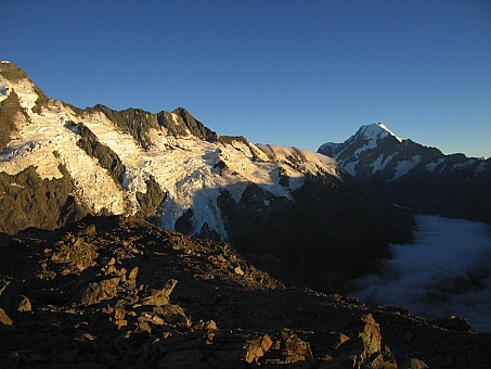 click on the photo and click again on the photo to download the original image  Sunrise Mt. Cook - Carol Molineux