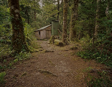 click on the photo and click again on the photo to download the original image  TTC152_6X7 Cone Hut -built by Tararua TC in 1946-, Tararua Forest Park, Wairarapa Photo Shaun Barnett