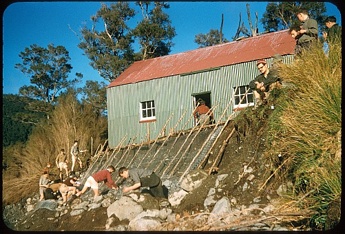 click on the photo and click again on the photo to download the original image  ttc388 Tauherenikau Hut