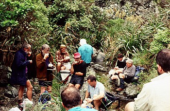 TTC group in 'Breakneck Creek', Waiariki Valley, Terawhiti Station, photograph by Barbara Mitcalfe